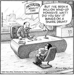 I've seen a million wind up monkeys…