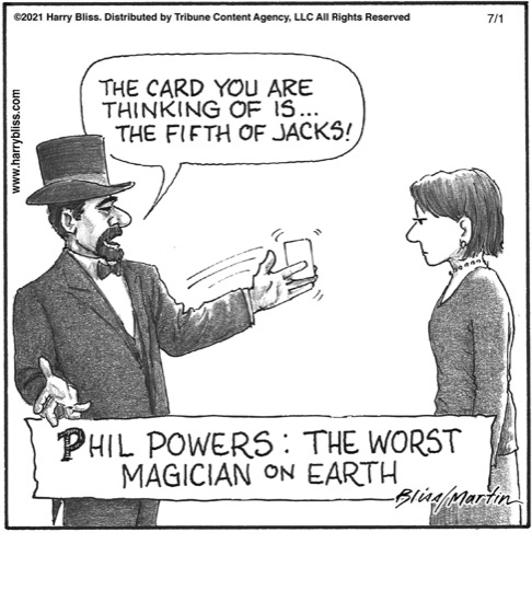 The worst magician on earth…