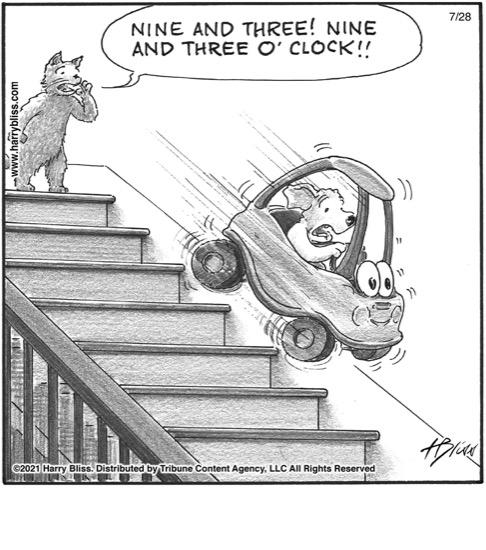 Nine and three o'clock!..…