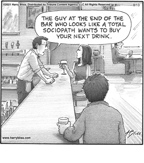 The guy at the end of the bar…