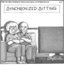 Synchronised sitting…...