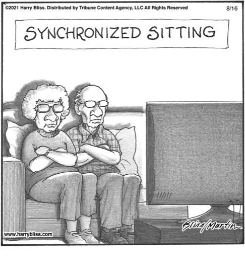 Synchronised sitting…