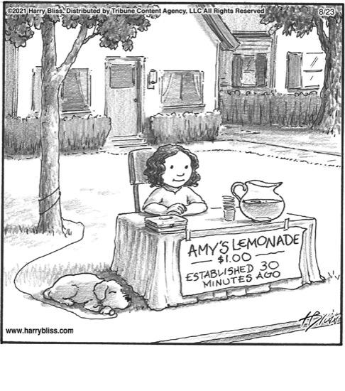 Amy's lemonade…