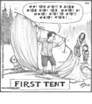First tent…...