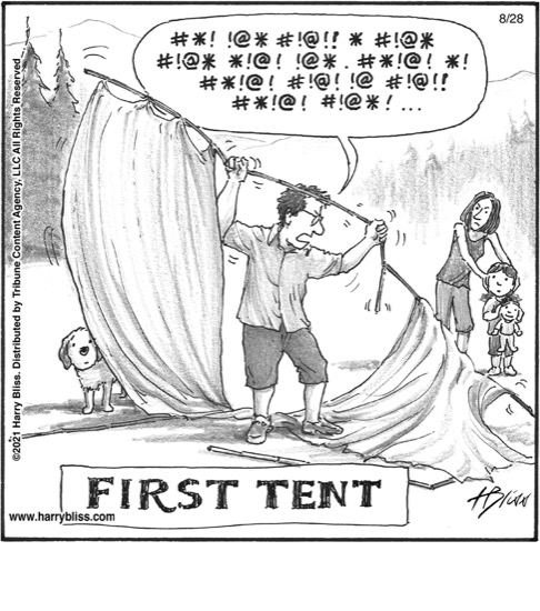 First tent…
