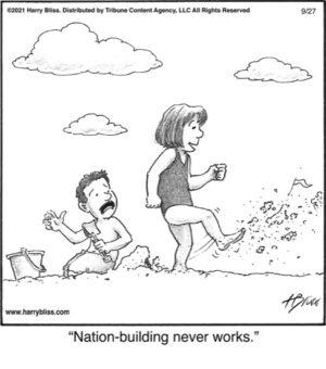 Nation-building…